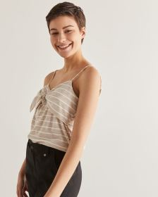 Front Knot Stripe Cami - Petite