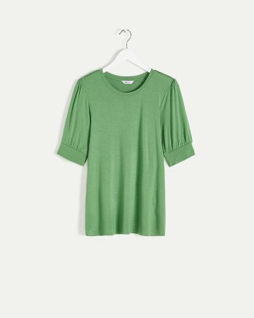 Elbow Puffed Sleeve Tee