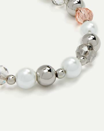 Bracelet with Beads & Pearls