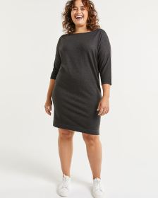 3/4 Sleeve Boat Neck Dress