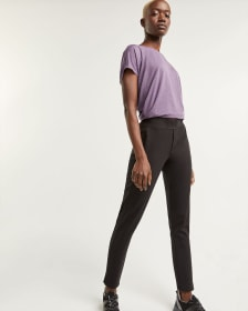 Slim Black Pants with Pockets Hyba - Petite