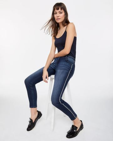Tall Contrasting Side Stripe Skinny Jeans