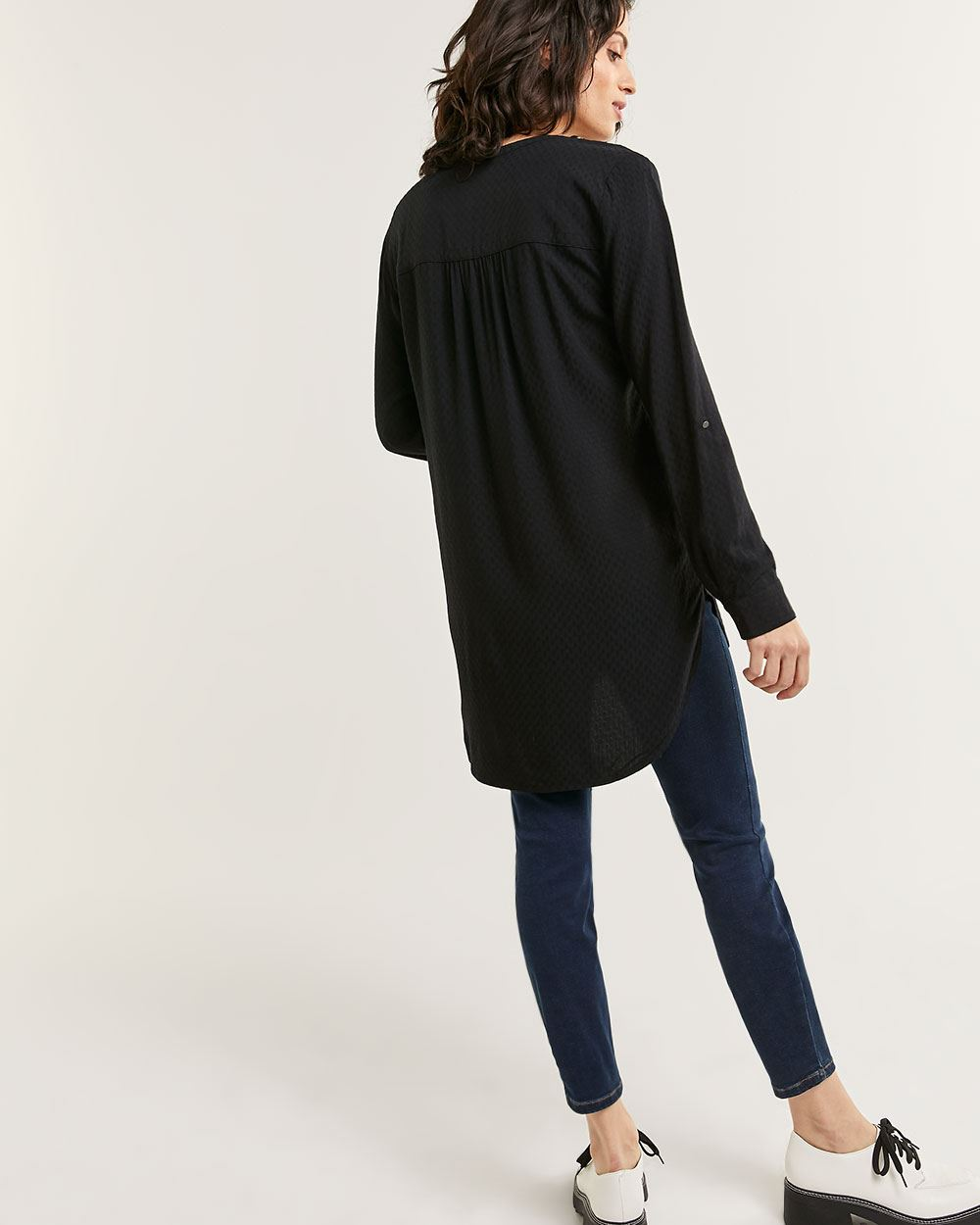 3/4 Sleeve Textured Tunic