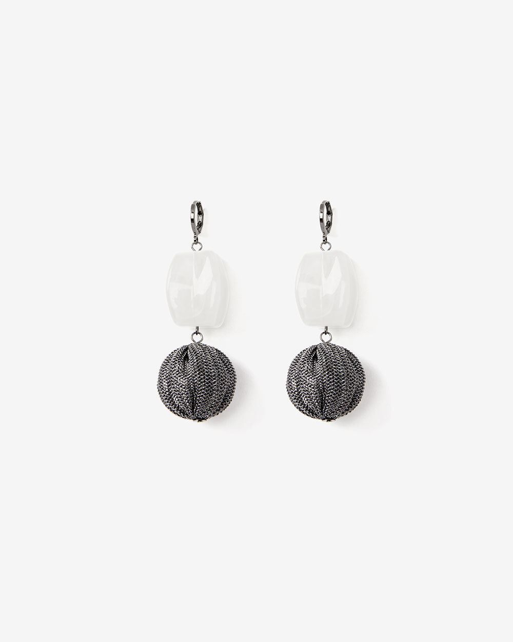 Mix Media Drop Earrings