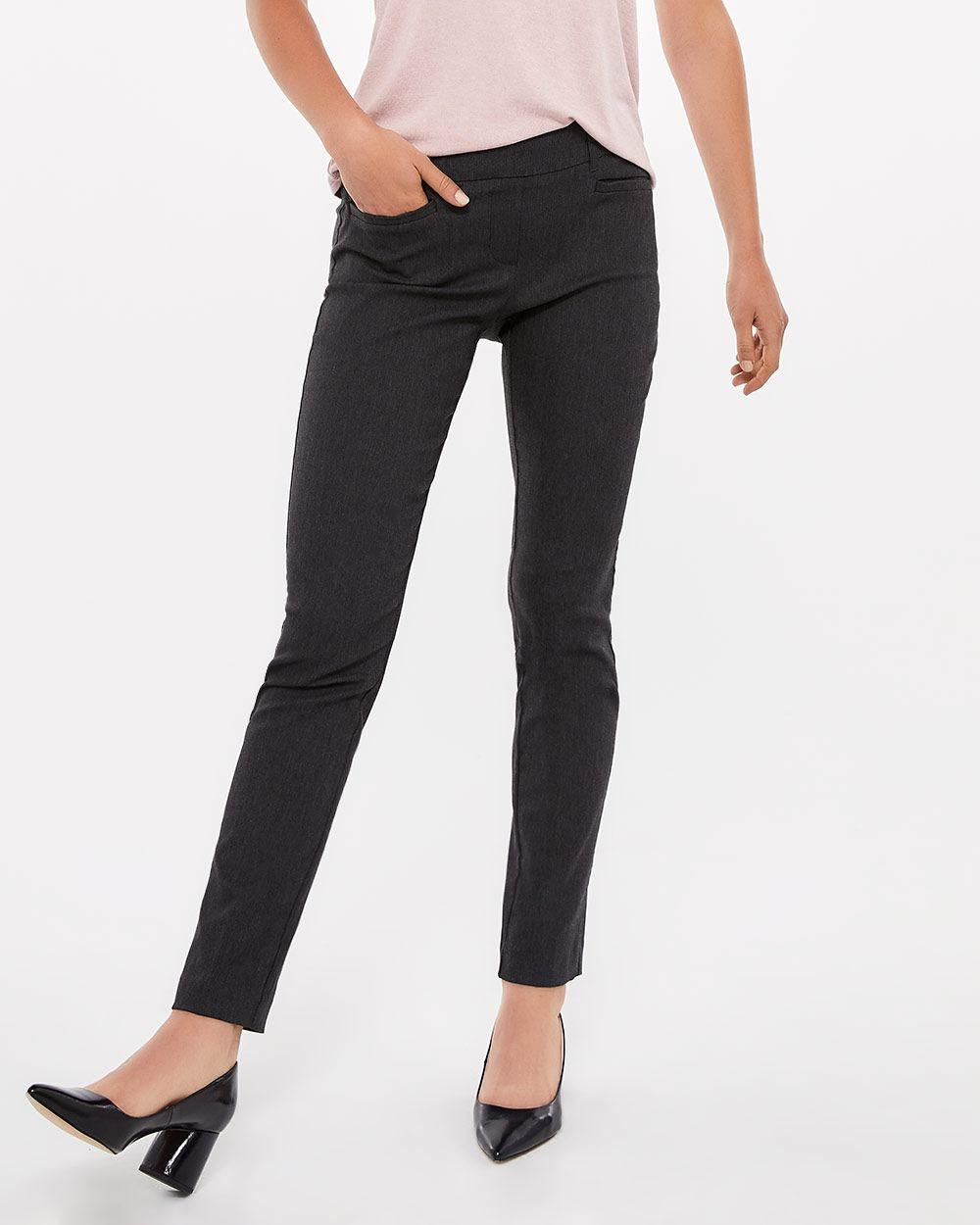 The Tall Iconic Straight Leg Grey Melange Pants