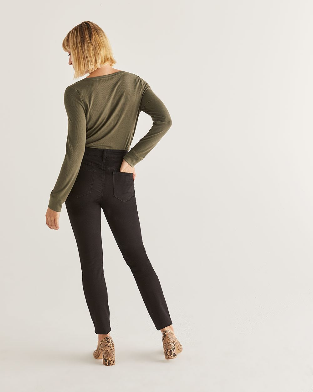 The Signature Soft High Waist Skinny Black Jeans