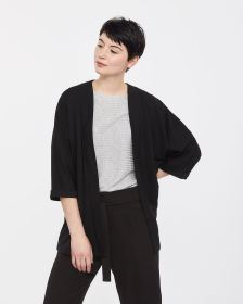 Dolman 3/4 Sleeve Open Cardigan