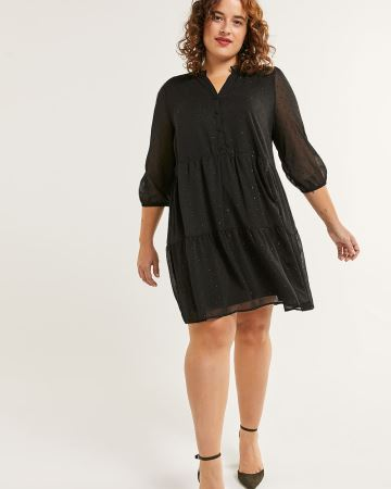 3/4 Sleeve Tiered Dress