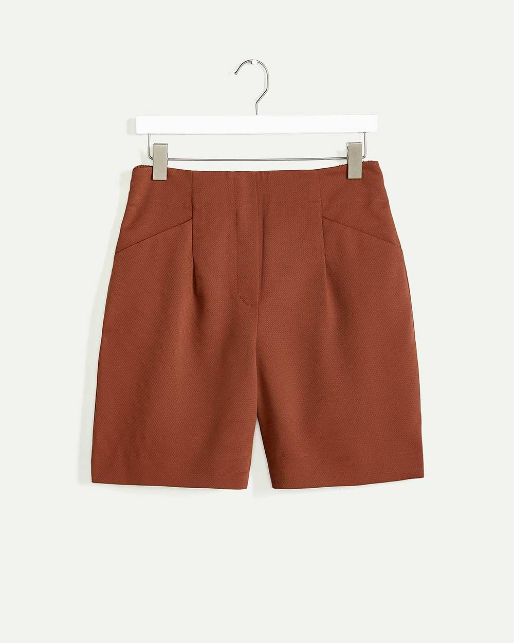 Pull On Shorts With Fake Fly