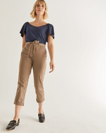 Cropped Chino Pant with Sash