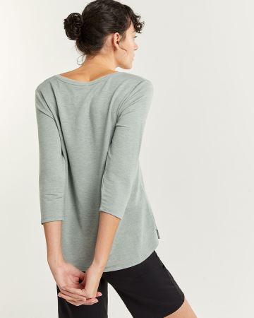 French Terry V-Neck Top Hyba