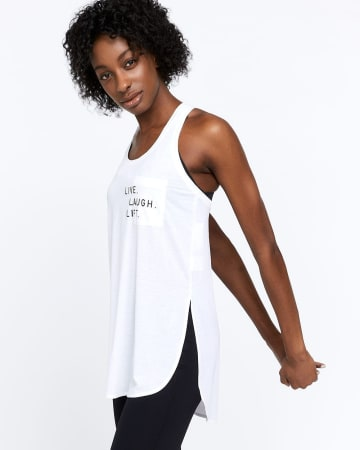 Hyba Graphic Long Tank Top