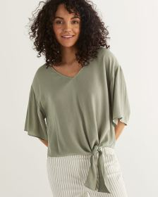 Front Side Tie Blouse