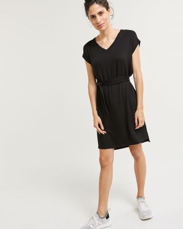 French Terry Dress with Belt Hyba