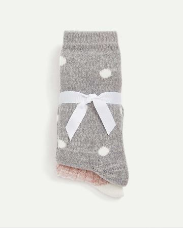 2-Pack Socks - Dots & 2-Tone