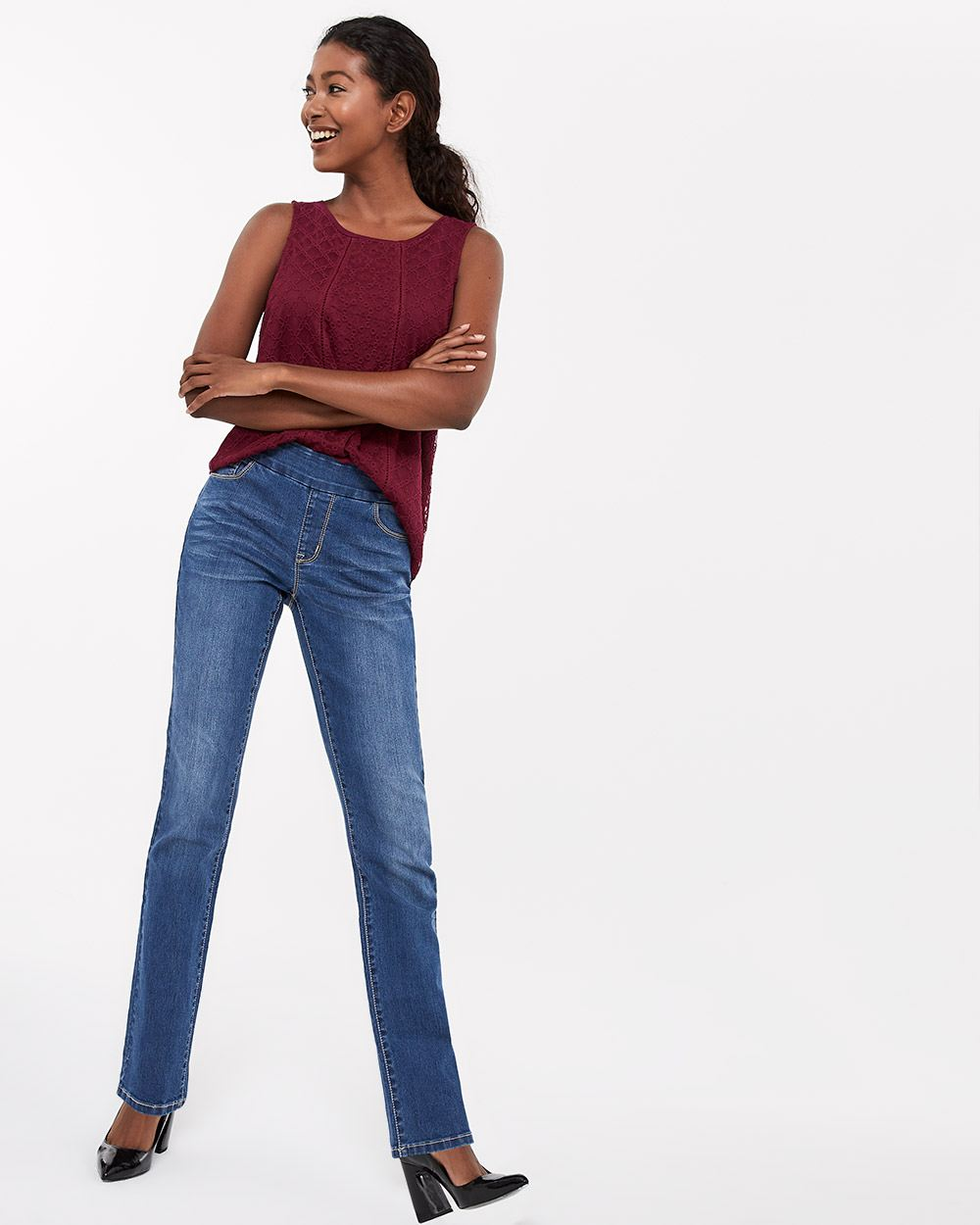 The Petite Original Comfort Straight Leg Medium Wash Jeans