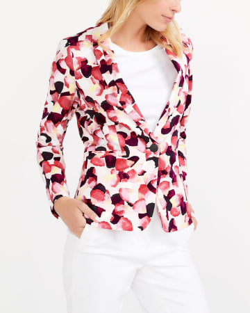 Willow & Thread Cotton Blend Printed Blazer