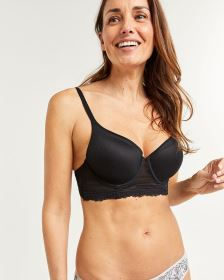 Longline T-Shirt Bra with Lace