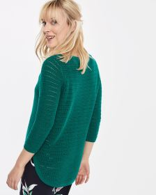 Cotton Boat Neck Sweater