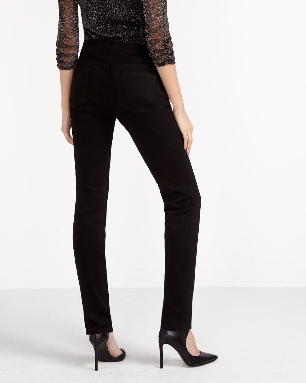 Tonal Embroidery Skinny Jeans