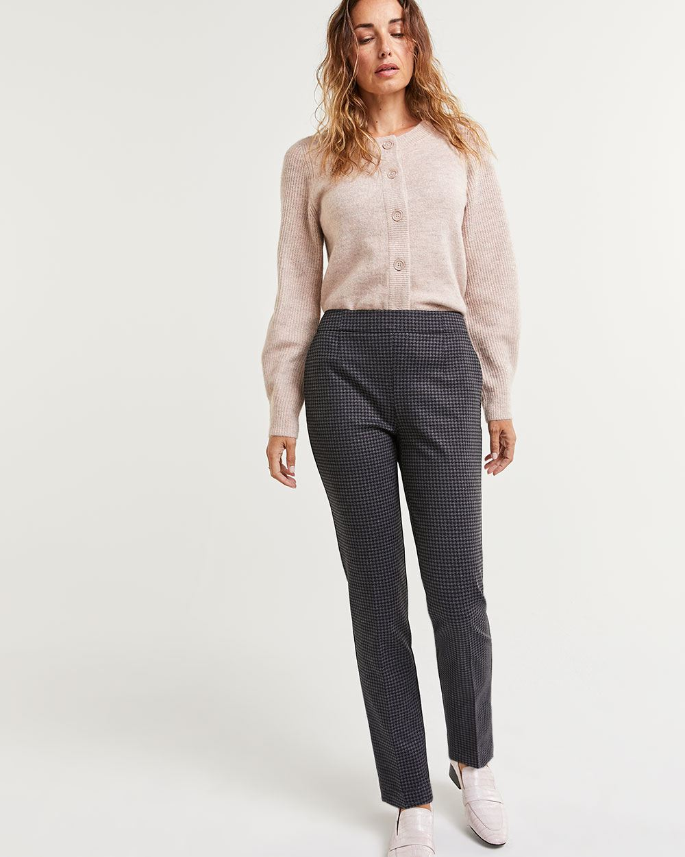 Straight Houndstooth Pants The Modern Stretch