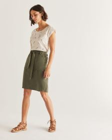 Tencel Paperbag Skirt
