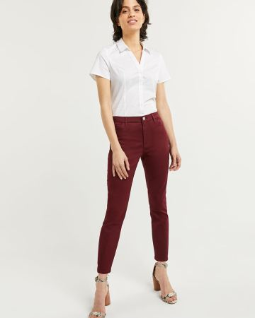 High Rise Cropped Skinny Jeans Signature Soft