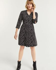 Printed Fit & Flare Shirt Dress
