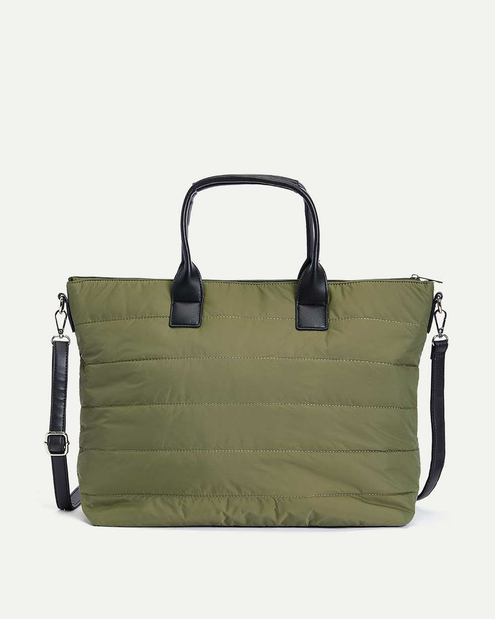 Quilted Puffy Tote Bag