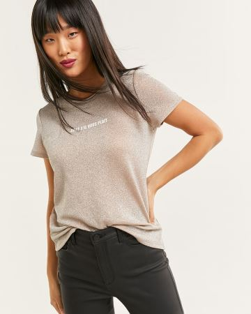 Short Sleeve Shimmer Graphic Tee