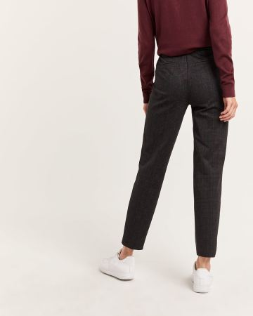 Plaid Jogger Pull On Pants