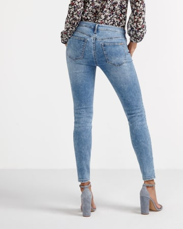Jeggings with Zip Hem