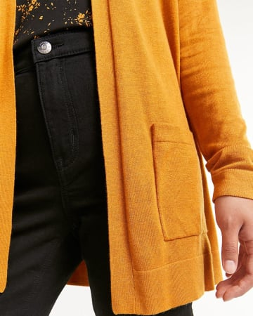 Long Sleeve Open Cardigan with Pockets R Essentials