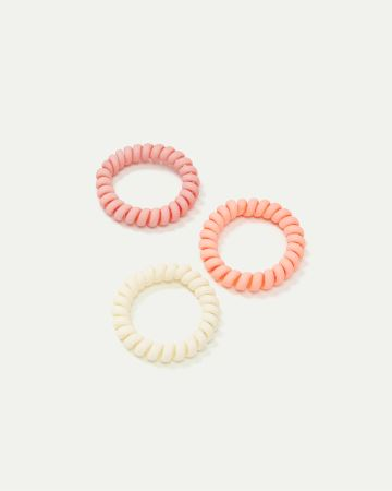 3-Pack Matte Spiral Hair Ties