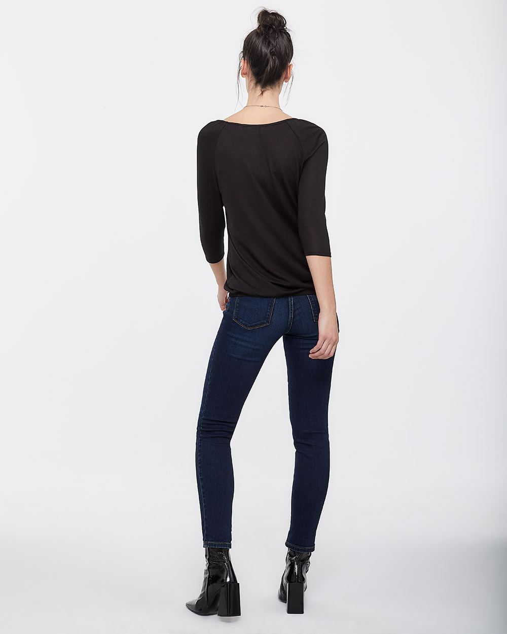 3/4 Sleeve Top with Bubble Hem