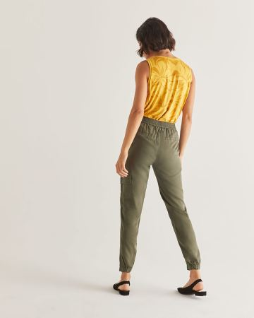 Pantalon cargo en Tencel - Long
