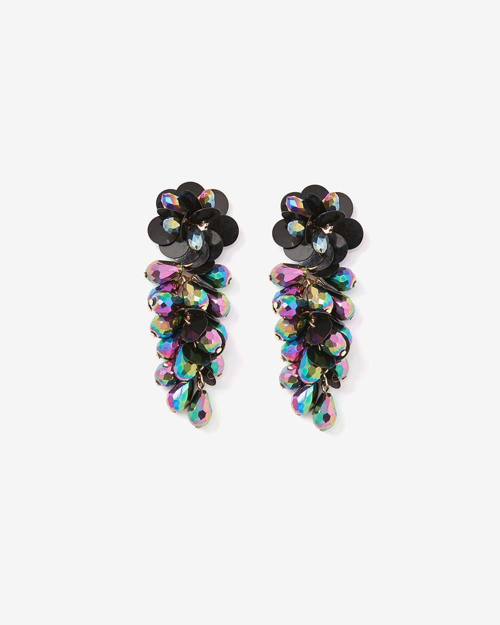 Sequin & Stone Earrings
