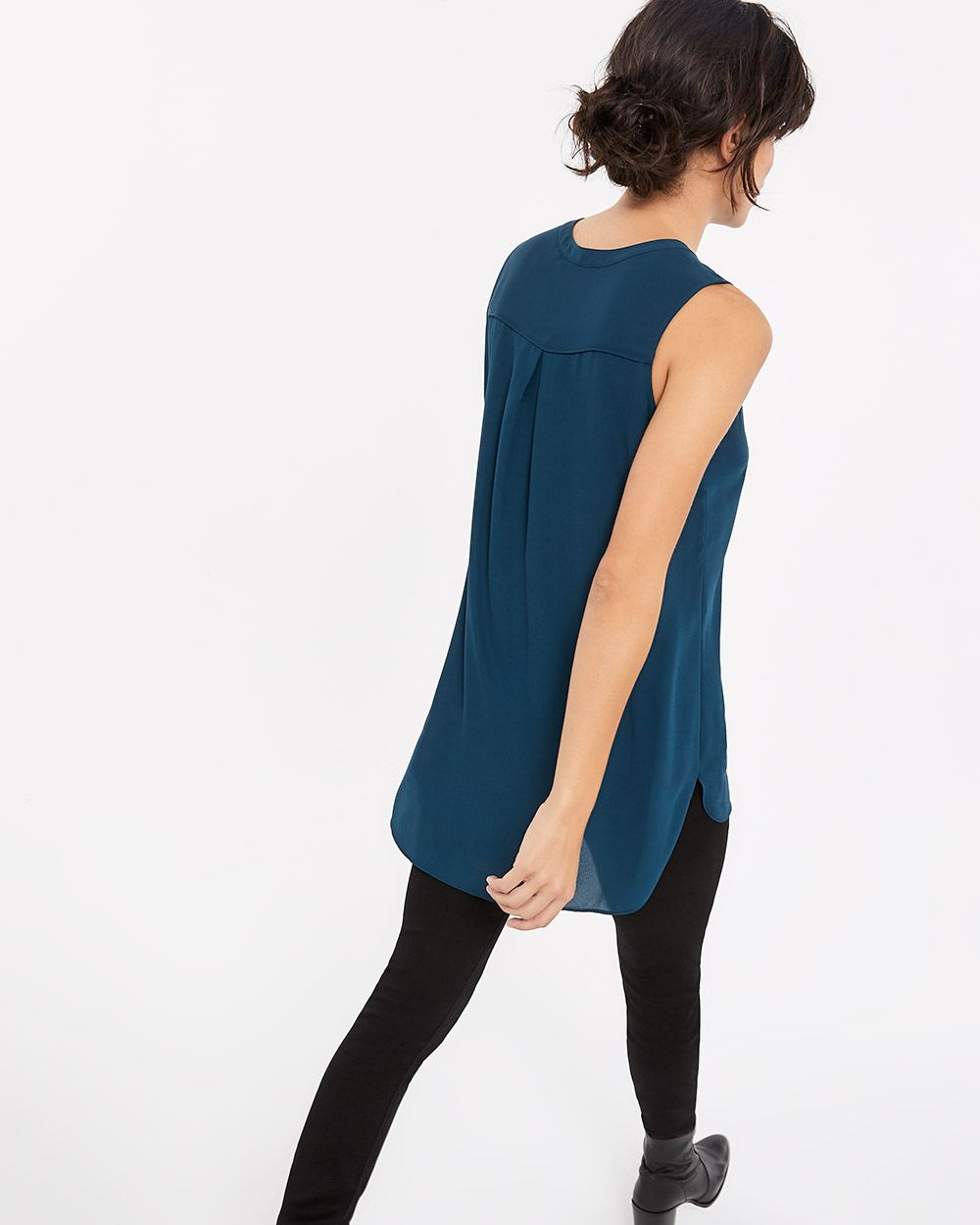 Sleeveless Popover Blouse