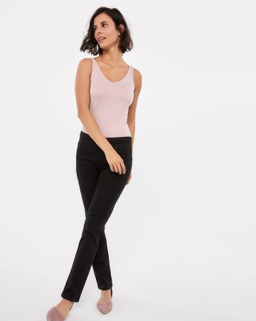 The Petite Original Comfort Black Straight Jeans