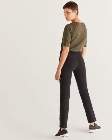 Hyba Black Straight Sculptor Pants - Petite