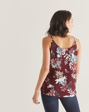 Mix Print Buttoned-Down Cami