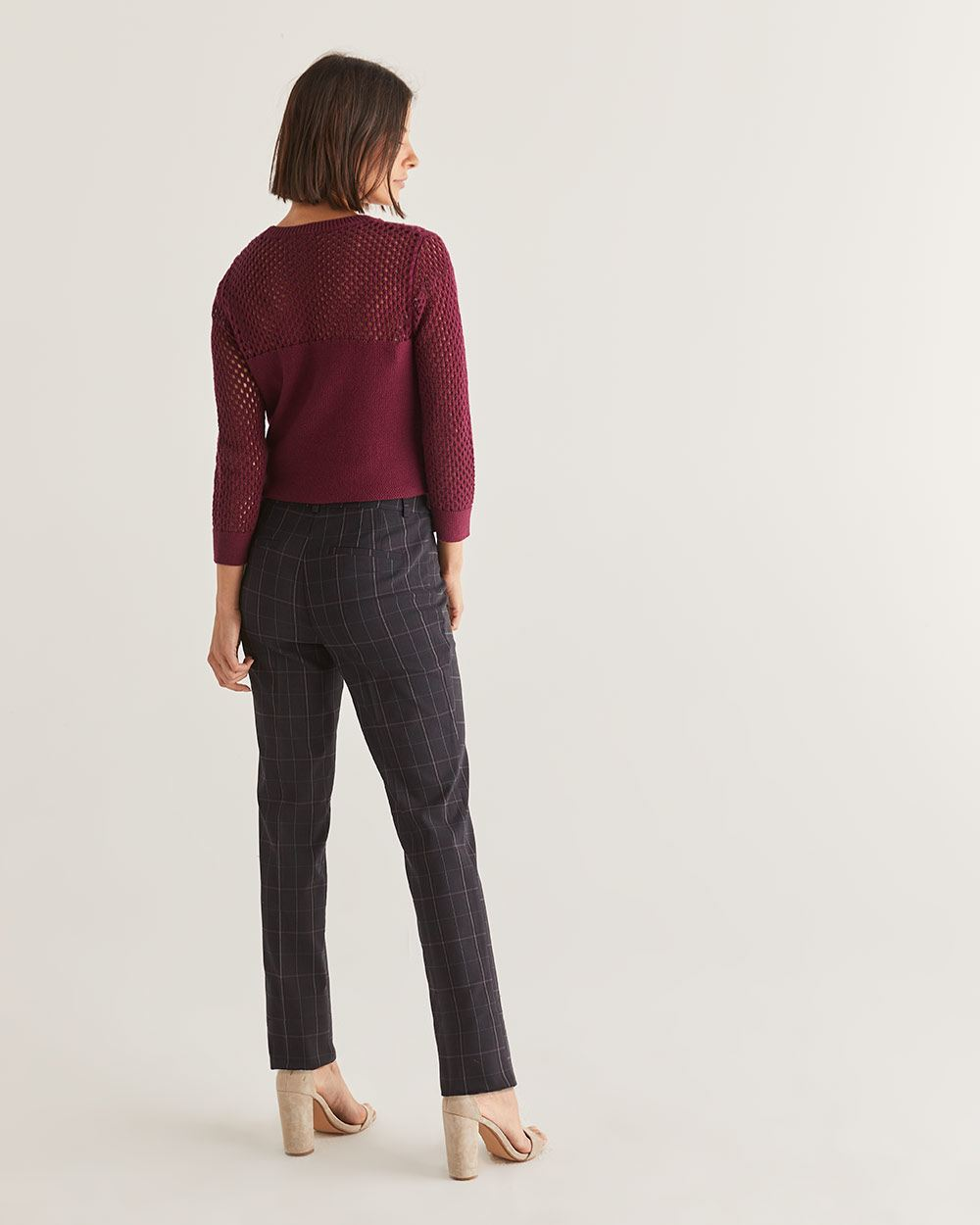 The Iconic Straight Leg Pull On Plaid Pants - Petite