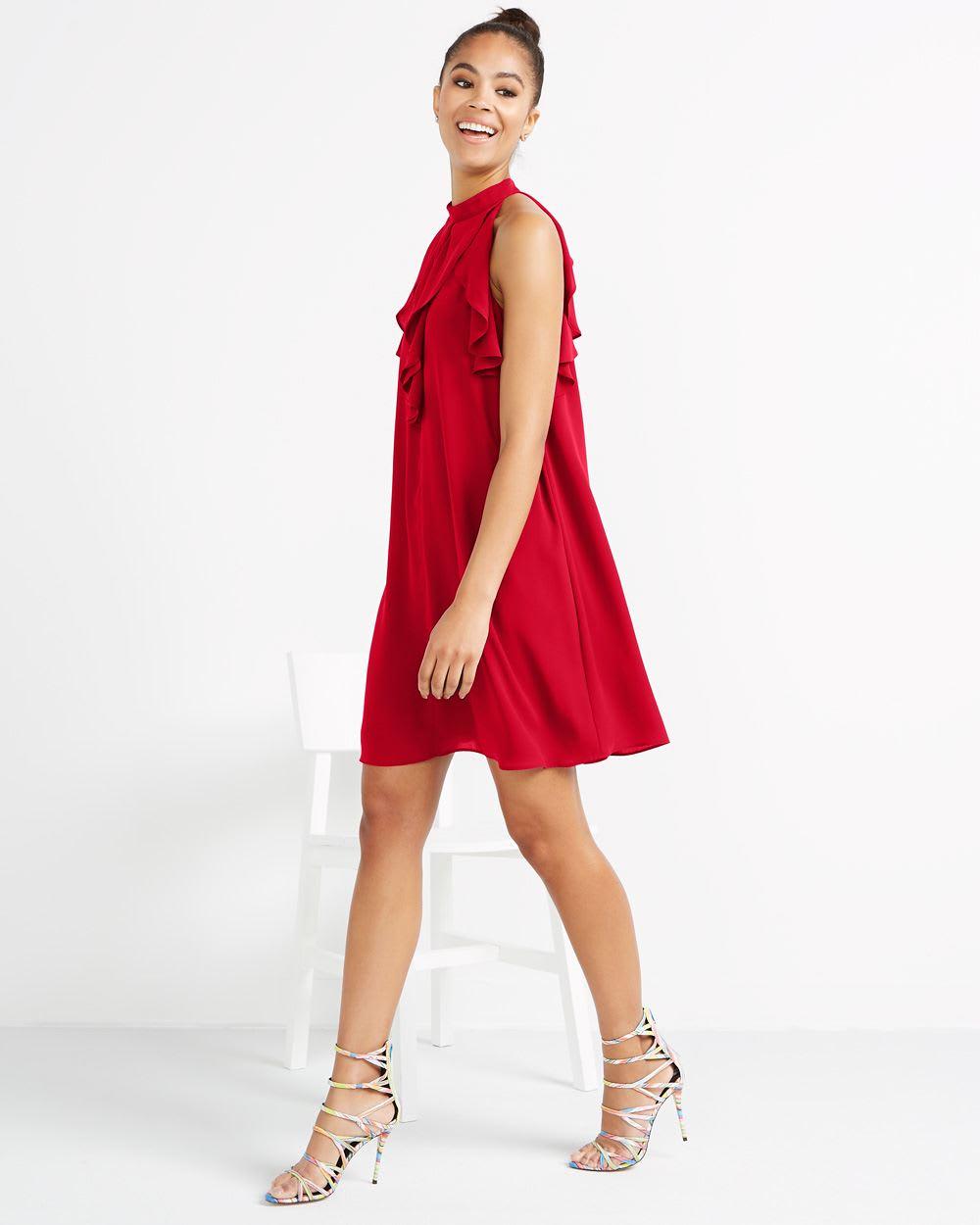 Halter Ruffle Dress  ac171c852
