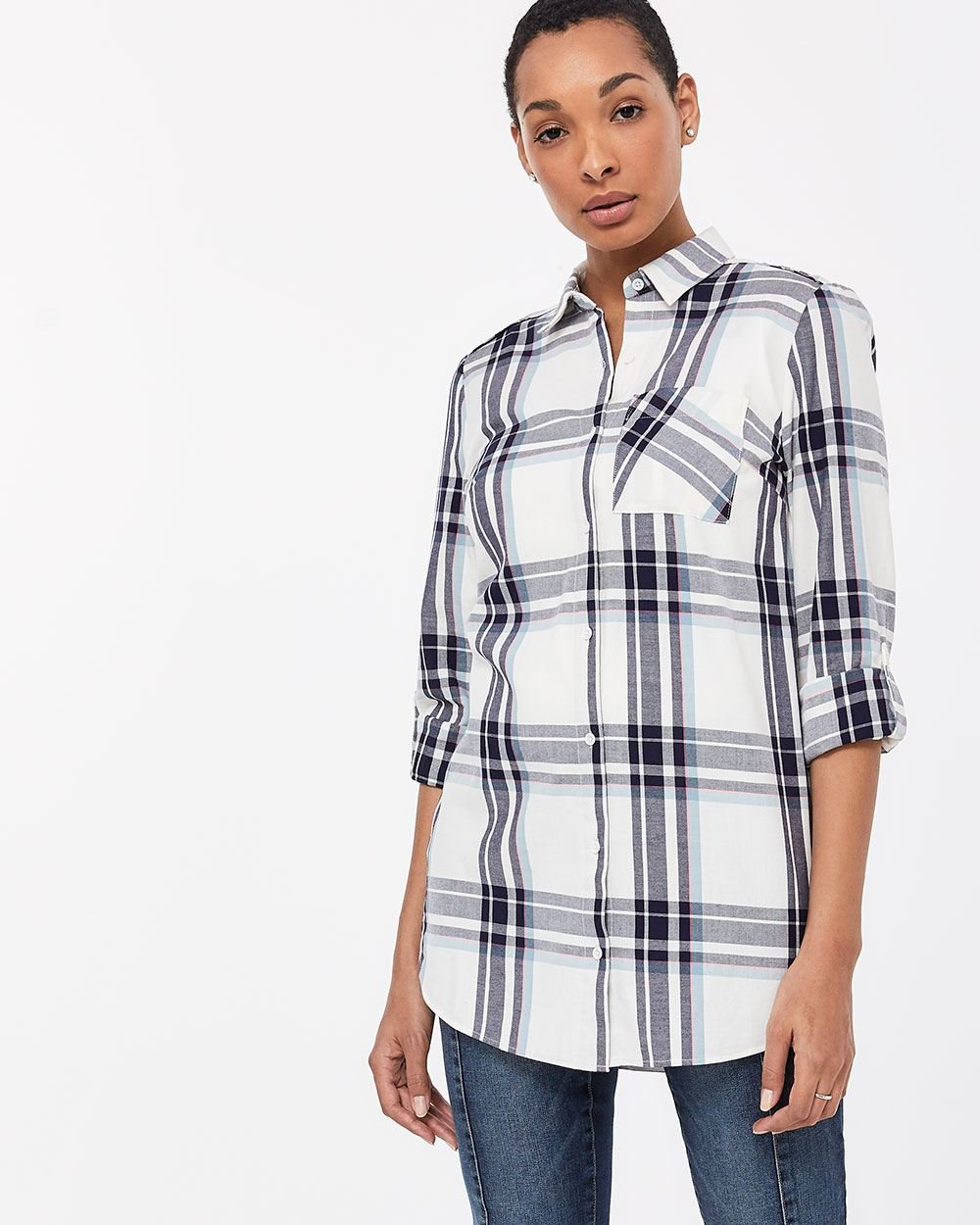 Plaid Tunic Shirt