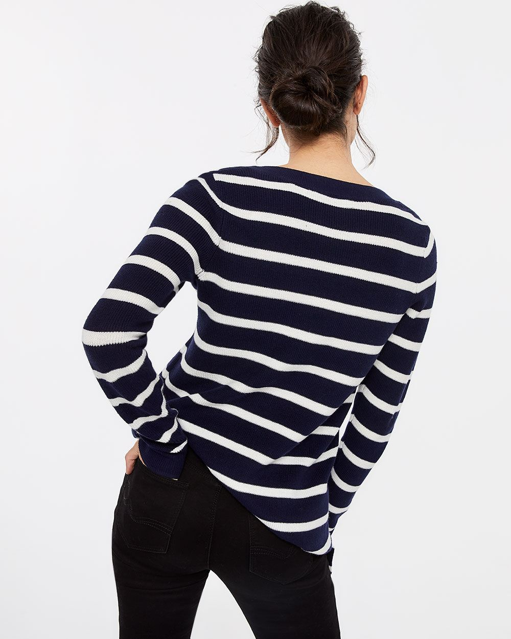 Long Sleeve Stripe Sweater