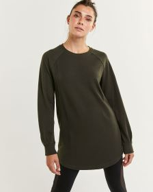 Long Raglan Sleeve French Terry Tunic Hyba