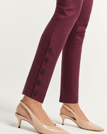 Slim Pull On Pants The Iconic with Buttoned Leg
