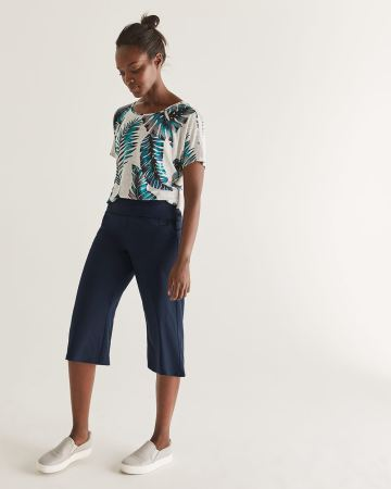 Hyba Navy Gaucho Pants