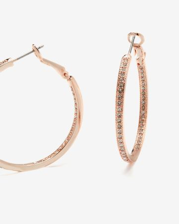 Rhinestone Hoop Earrings