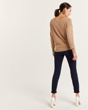 Long Sleeve Rib Sweater